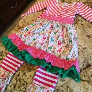 Adorable 2 piece Christmas outfit for little girl